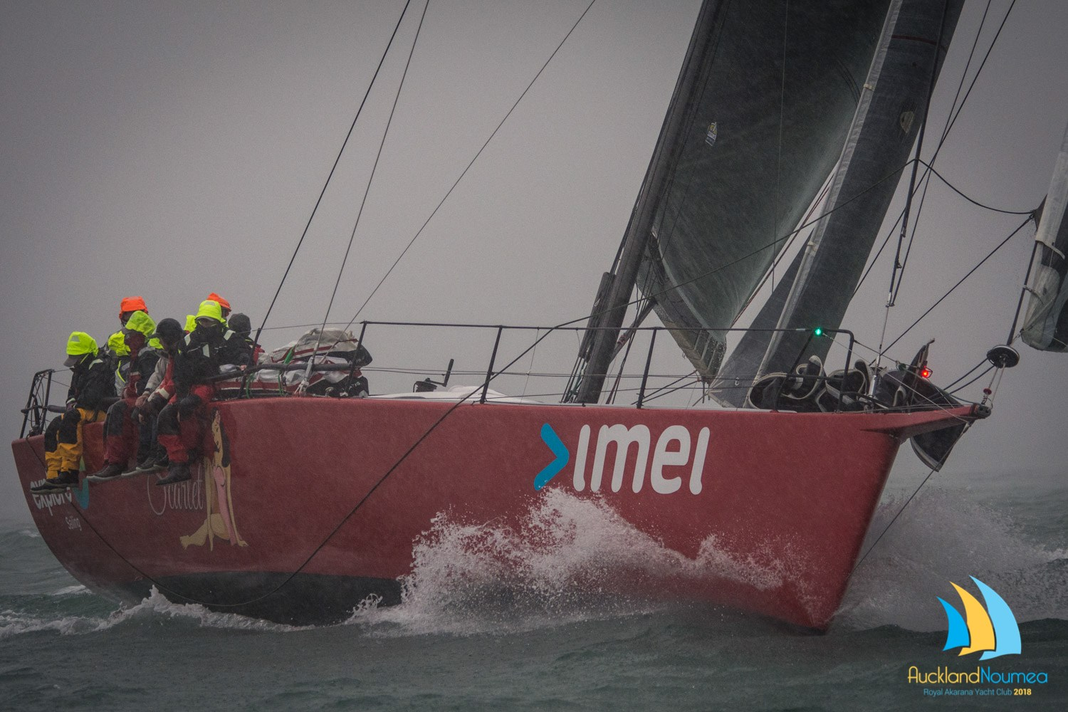 "imei sponsored yacht ""Miss Scarlet"" wins Auckland – Noumea Race IRC Division, second across the line."